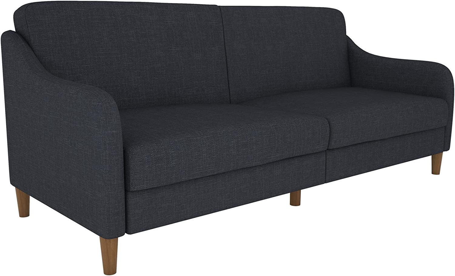 - Elegant Tulsa Convertible Sleeper Sofa With Wing Shaped Arms Made