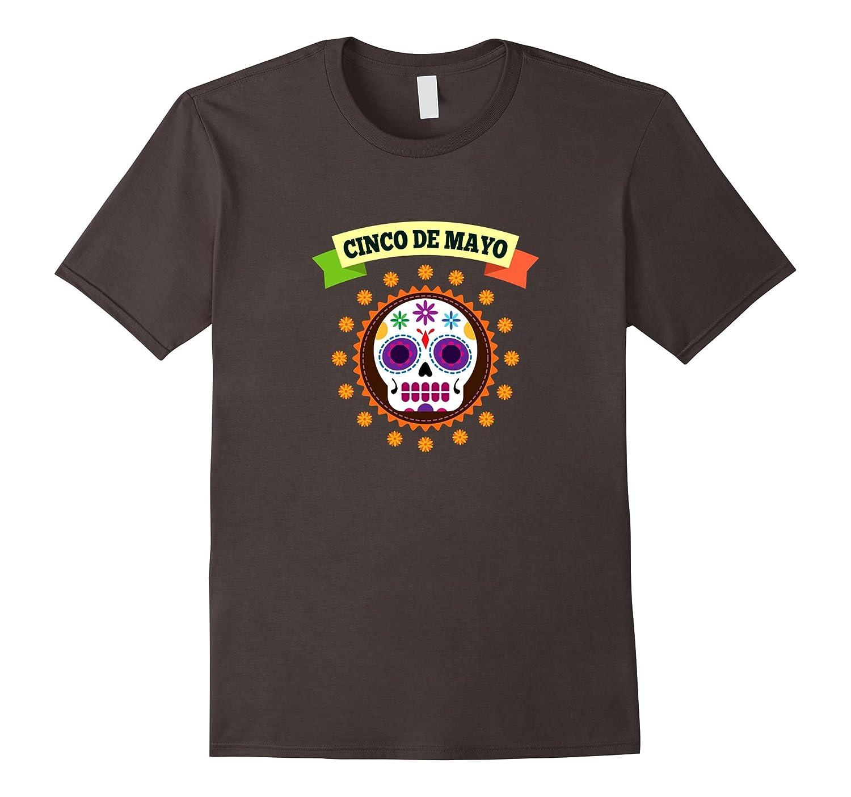 Cinco De Mayo T-Shirt Sugar Skull Mexican Flag Shirt-TH