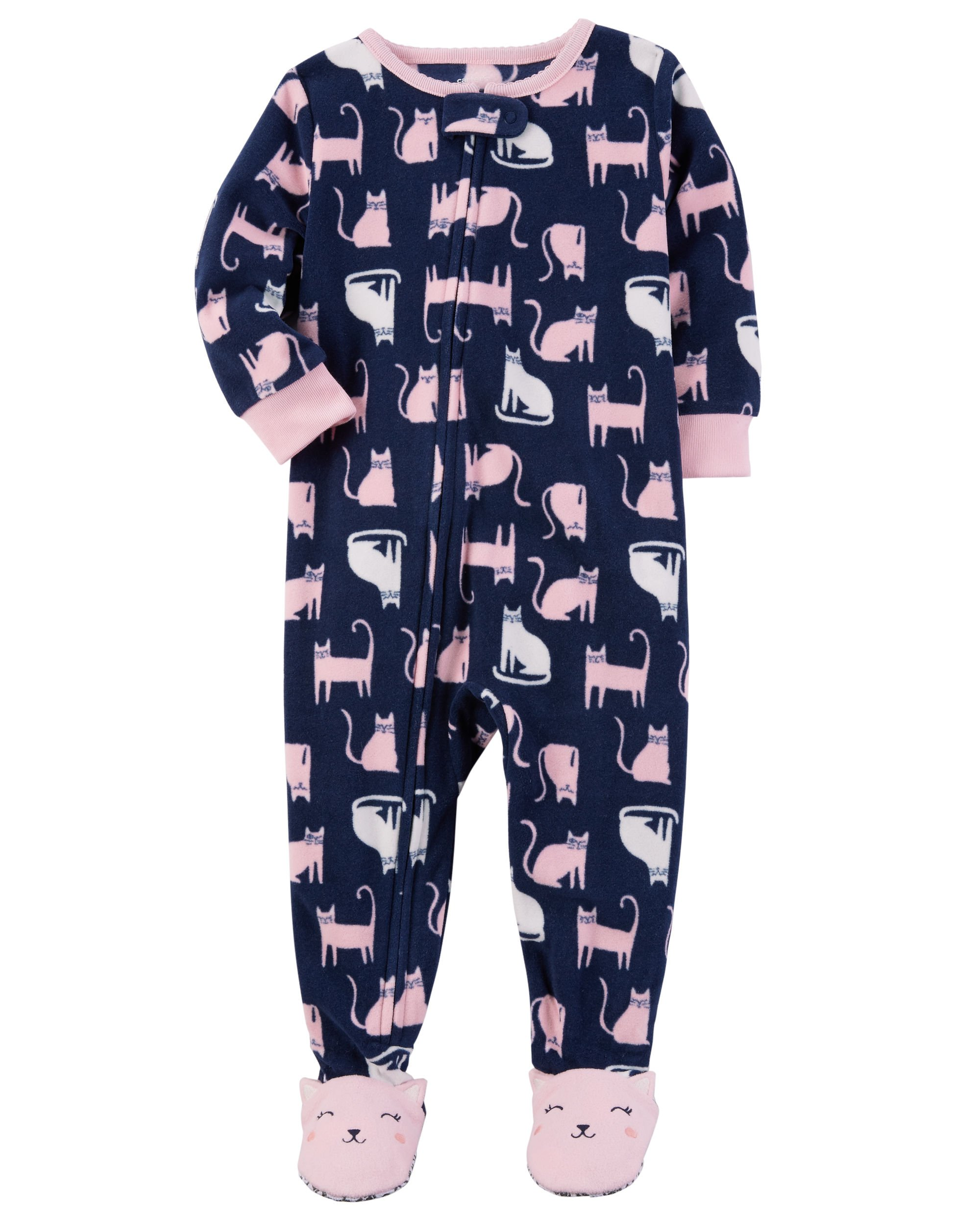 17a1c767261d Galleon - Carter s Girls Fleece Sleeper Pajamas (8