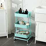 SONGMICS 3-Tier Metal Rolling Cart, Utility