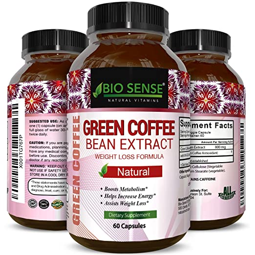 Green Coffee Bean – Natural And Potent Weight Loss Pills For Men And Women – Burn Belly Fat – Metabolism Booster – Powerful Antioxidant – Pure Green Coffee Bean Extract By Phytoral