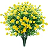 6 Bundles Artificial Flowers Outdoor Fake Flowers for Decoration UV Resistant No Fade Faux Plastic Plants Garden Porch Window