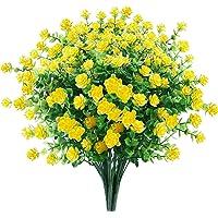 GREENRAIN 6 Bundles Artificial Flowers Outdoor Fake Flowers for Decoration UV Resistant No Fade Faux Plastic Plants…