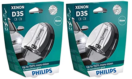 4bd28278429 Image Unavailable. Image not available for. Color: PHILIPS Xenon X-TremeVision  Gen2 +150% D3S HID Xenon Bulbs ...