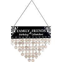 MengH-SHOP Placa de Cumpleaños de la Familia Calendario
