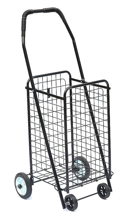 Carro de compras de metal 4 ruedas Bo Time - Capacidad 47L