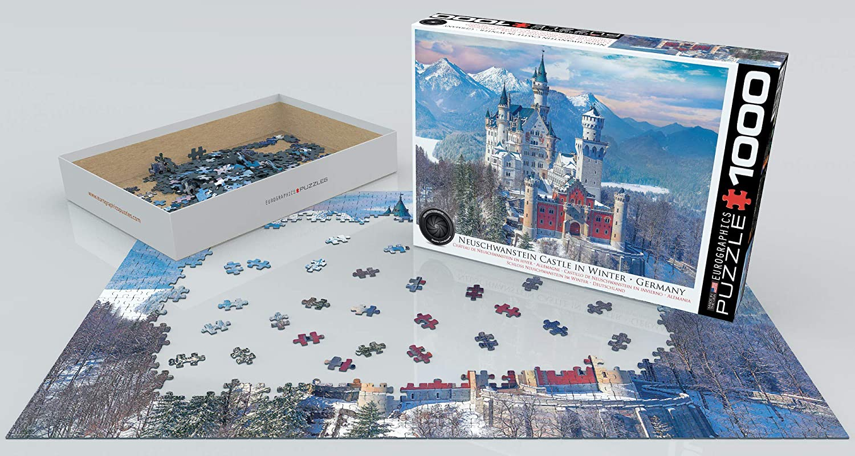 Eurographics Puzzle 1000 Piece Jigsaw Neuschwanstein Castle Winter EG60005419