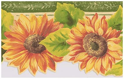 Bg71361dc Country Sunflower Insects Floral Wallpaper Border Tools