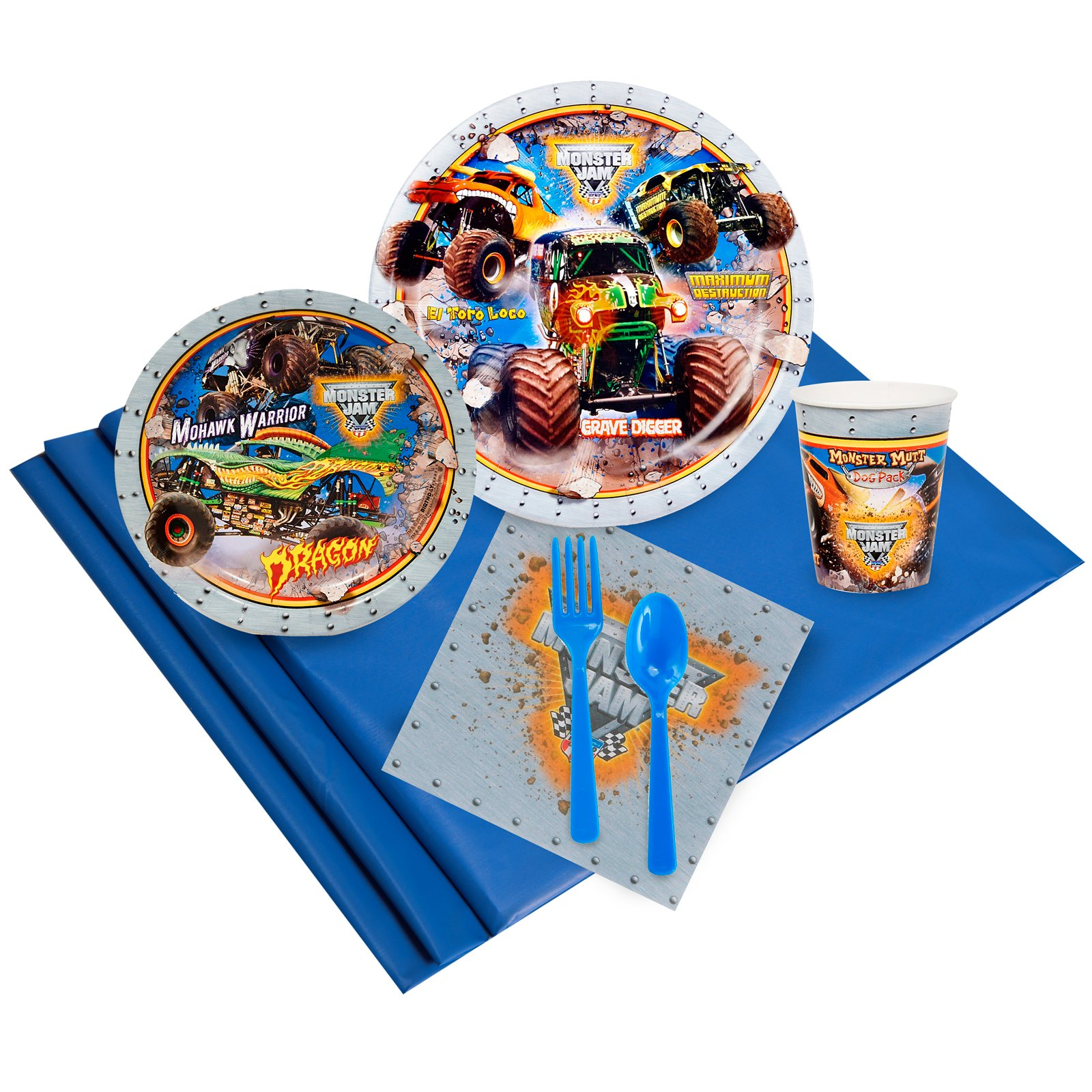 BirthdayExpress Monster Jam Party Supplies - Party Pack for 24