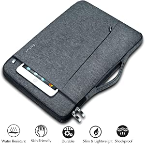 Ferkurn 14 15 15.6 inch Laptop Sleeve Case with Handle Compatible MacBook 16 15 Surface Acer Aspire Thinkpad HP Chromebook Probook Pavilion XPS 15 17 Inspiron Chromebook Waterproof Computer Case Grey