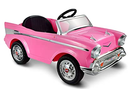 Amazon.com: Kid Motorz Chevy Bel Air, 12V, Pink: Toys & Games