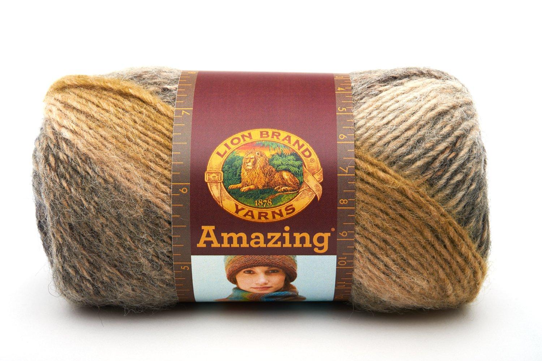 Lion Brand Yarn Company 1 Pieza Homespun Naranja Incendio
