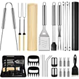 OlarHike BBQ Grill Accessories Set for Men Women, 29PCS Grilling Utensils Tools Set, Stainless Steel BBQ Gift Set with…