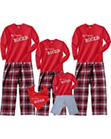 My Family Rocks Red-Black Cotton Clothing Set; Choose Adult or Kids Size