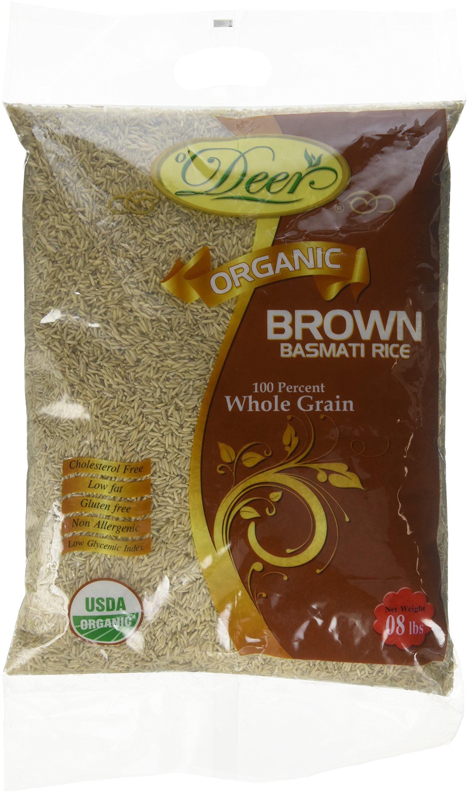 Deer, Brown Basmati Rice, 8 Pound(LB)
