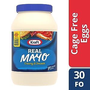 Kraft Real Mayo, 30 fl oz Jar (4jars)