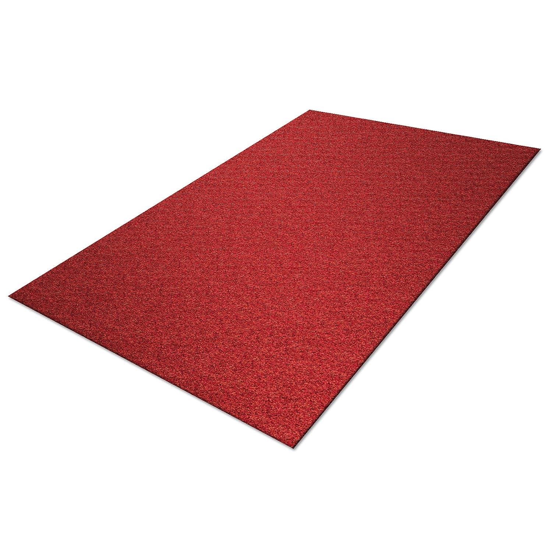 rot Gr/ö/ße w/ählbar Schmutzfangmatte Karat in XXL Gr/ö/ßen nimmt Feuchtigkeit und Schmutz zuverl/ässig auf Baumwolle 200x250cm