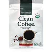 Natural Force Organic, Mold Free Clean Coffee – Low Acid, Whole Bean, Rainforest Alliance Certified Medium Roast - Great…