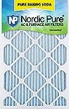 "Nordic Pure 18x20x1 Pure Baking Soda Odor Deodorizing AC Furnace Air Filters 18"" x 20"" x 1"" 3"
