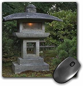 "3dRose Stone Lantern in Portland Japanese Garden, USA - US38 WSU0159 Mouse Pad, 8"" x 8"" (mp_146369_1)"