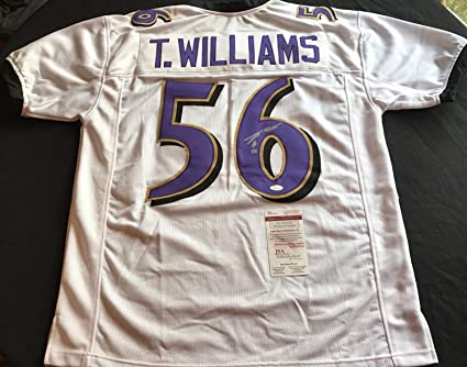 pretty nice f9dd8 d16d4 Tim Williams Baltimore Ravens Autographed Signed Custom ...