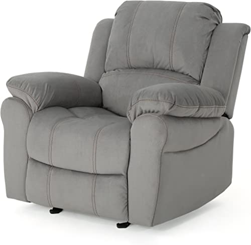 Christopher Knight Home Edwin Recliner, Grey Black