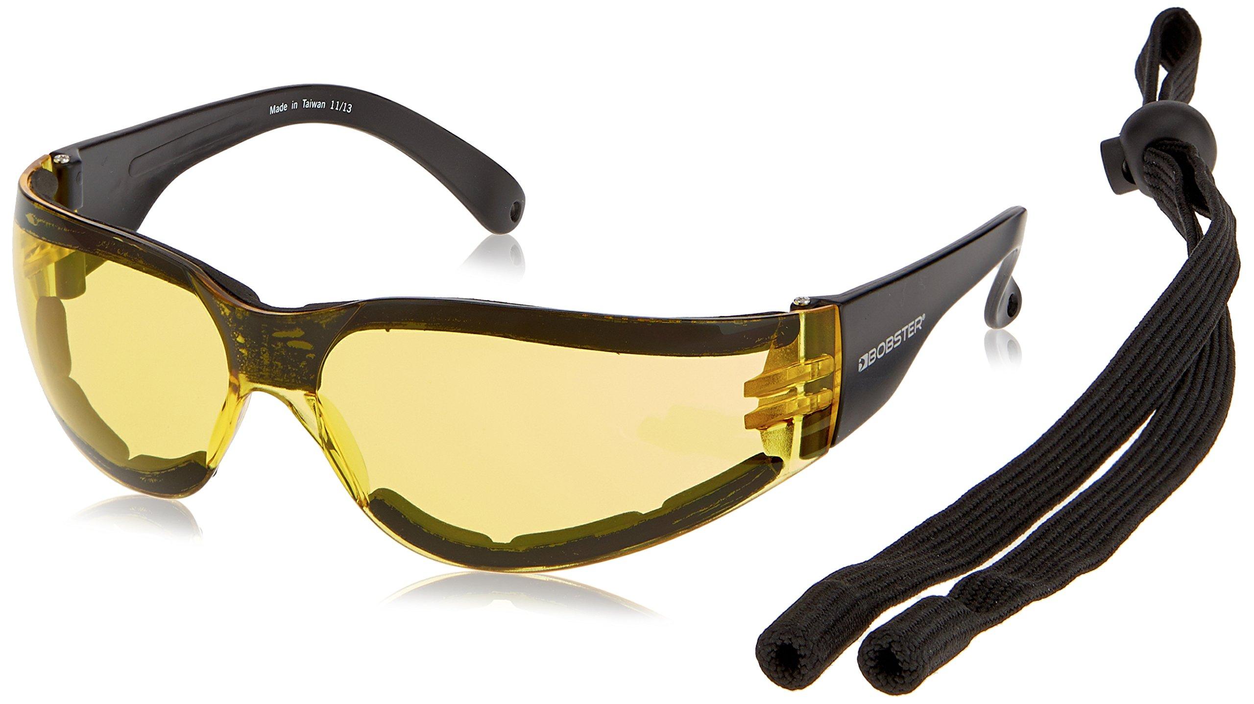 Bobster ESH303 Shield 3 Sunglasses, Black Frame/Anti-fog Yellow Lens