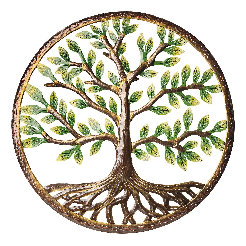 Tree of Lifeウォールアート – Large Recycledメタルインドア/アウトドアSculpture – 23