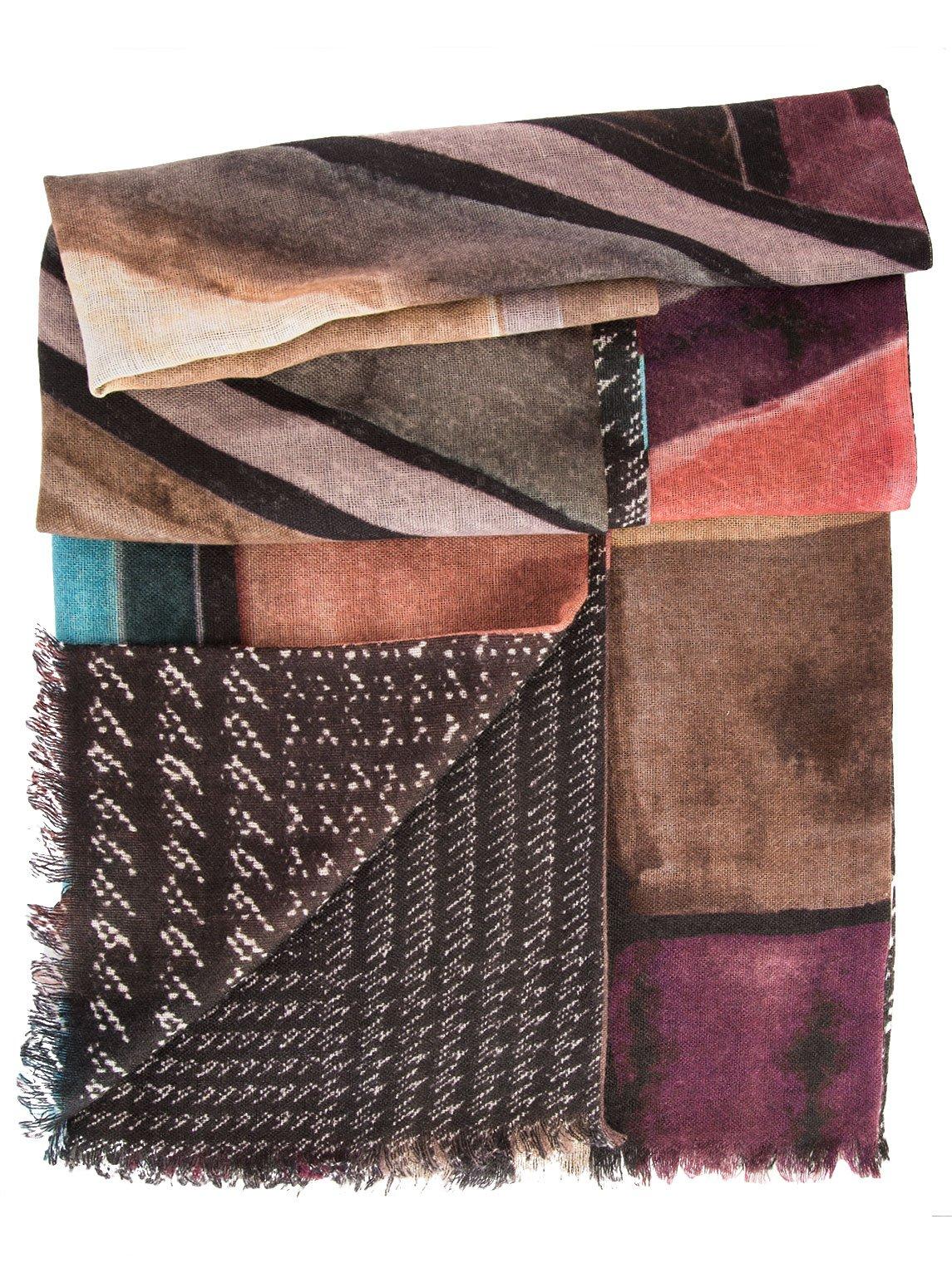 Elizabetta Womens Double Sided Wool Scarf Wrap Shawl, Made in Italy
