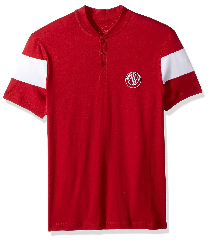 A|X Armani Exchange Men's Short Sleeve Organic Cotton Polo Shirt