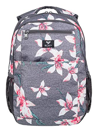 Roxy Here You Are Mochila Mediana, Mujer, Rosa/Gris (Charcoal Heather Flower Field), 23.5 l: Roxy: Amazon.es: Deportes y aire libre