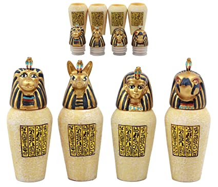 Ebros Gift Ancient Egyptian Four Sons Of Horus Canopic Jars Imsety