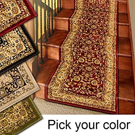 25' Stair Runner Rugs - Marash Luxury Collection Stair Carpet Runners (Red): Amazon.co.uk: Kitchen & Home