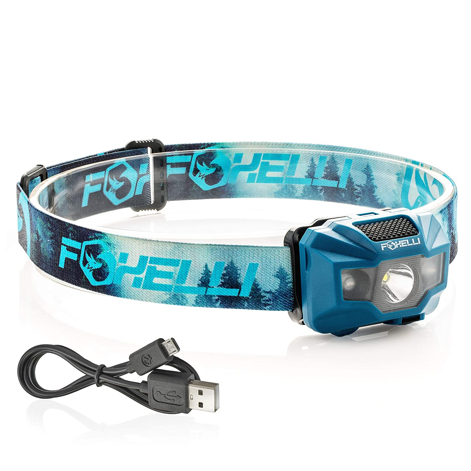 Foxelli USB Rechargeable Headlamp