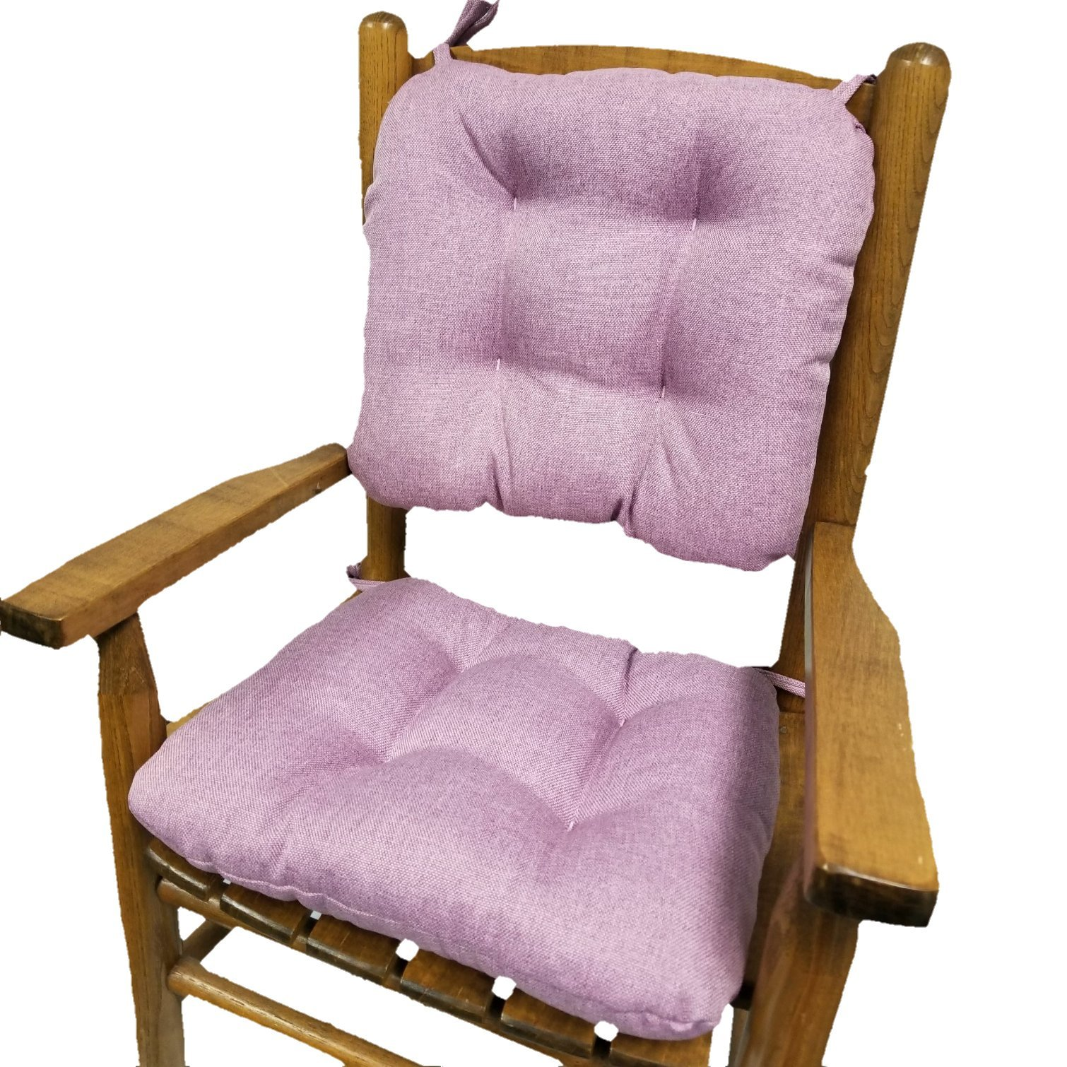 Barnett Child Rocking Chair Cushions - Seat Cushion and Back Cushion for Children's Rocker - Latex Foam Fill, Tufted, Reversible, with Ties - Machine Washable (Hayden Lavender, Child Size)