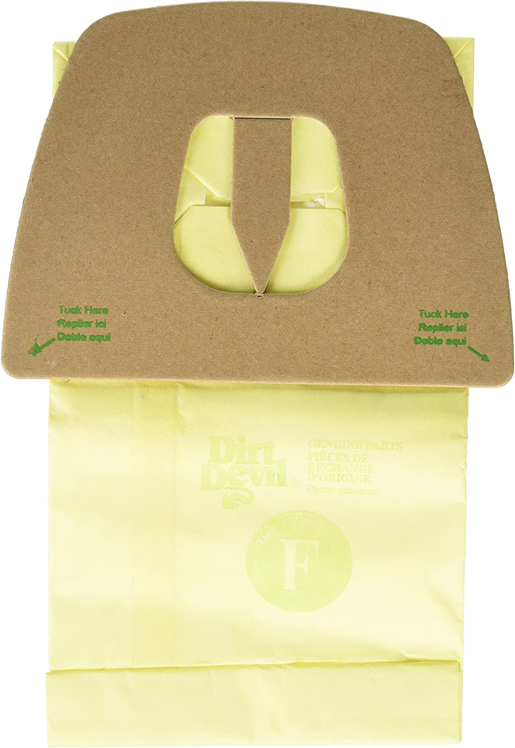 Dirt Devil Type F Microfresh Vacuum Bags (3-Pack) Plus Filter, 3300480001