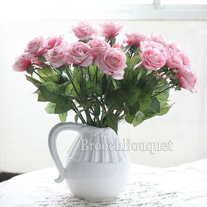 Amazon.com: DIY Artificial Silk Craft Decoration Flowers Bridal ...