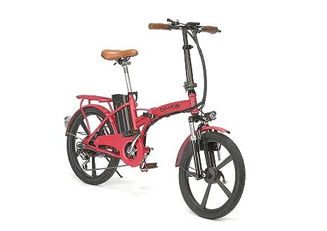 BIWBIK Bicicleta ELECTRICA Plegable Mod. Book Sport BATERIA Ion Litio 36V 12AH (Book Sport ROJA BATERIA 12AH): Amazon.es: Deportes y aire libre