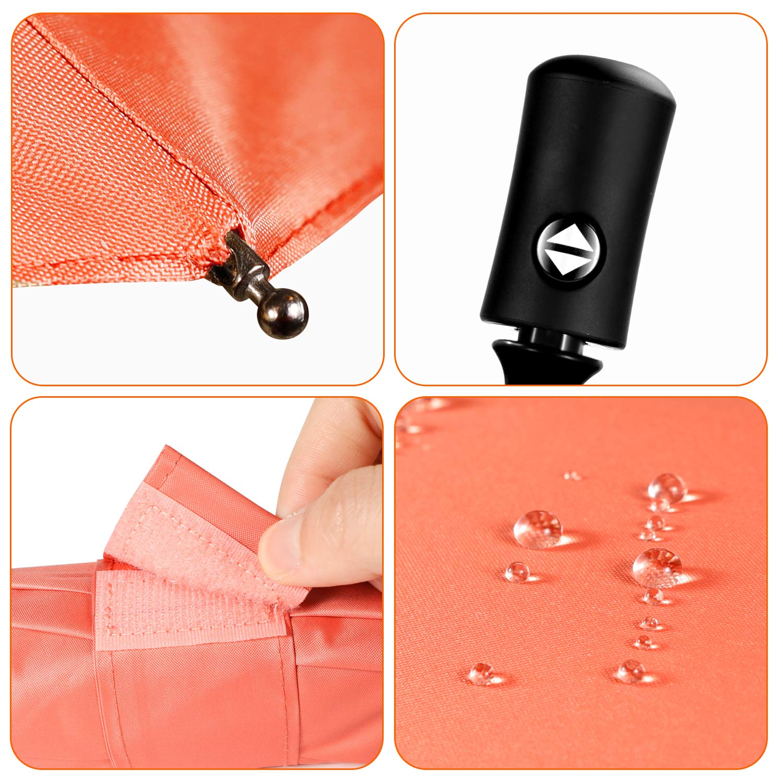 Travel Umbrella Compact Folding Sun Umbrellas Lighweight Auto Open Close for Women Parasol Mint Green