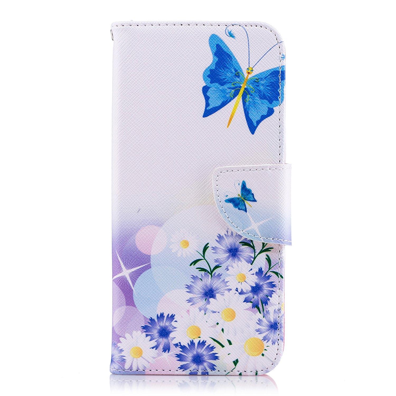Tophung Funda de piel sintética para Samsung Galaxy J6, a prueba de golpes, con función atril, tarjetero y ranura para identificación, con tapa, para Samsung Galaxy J6, Floral