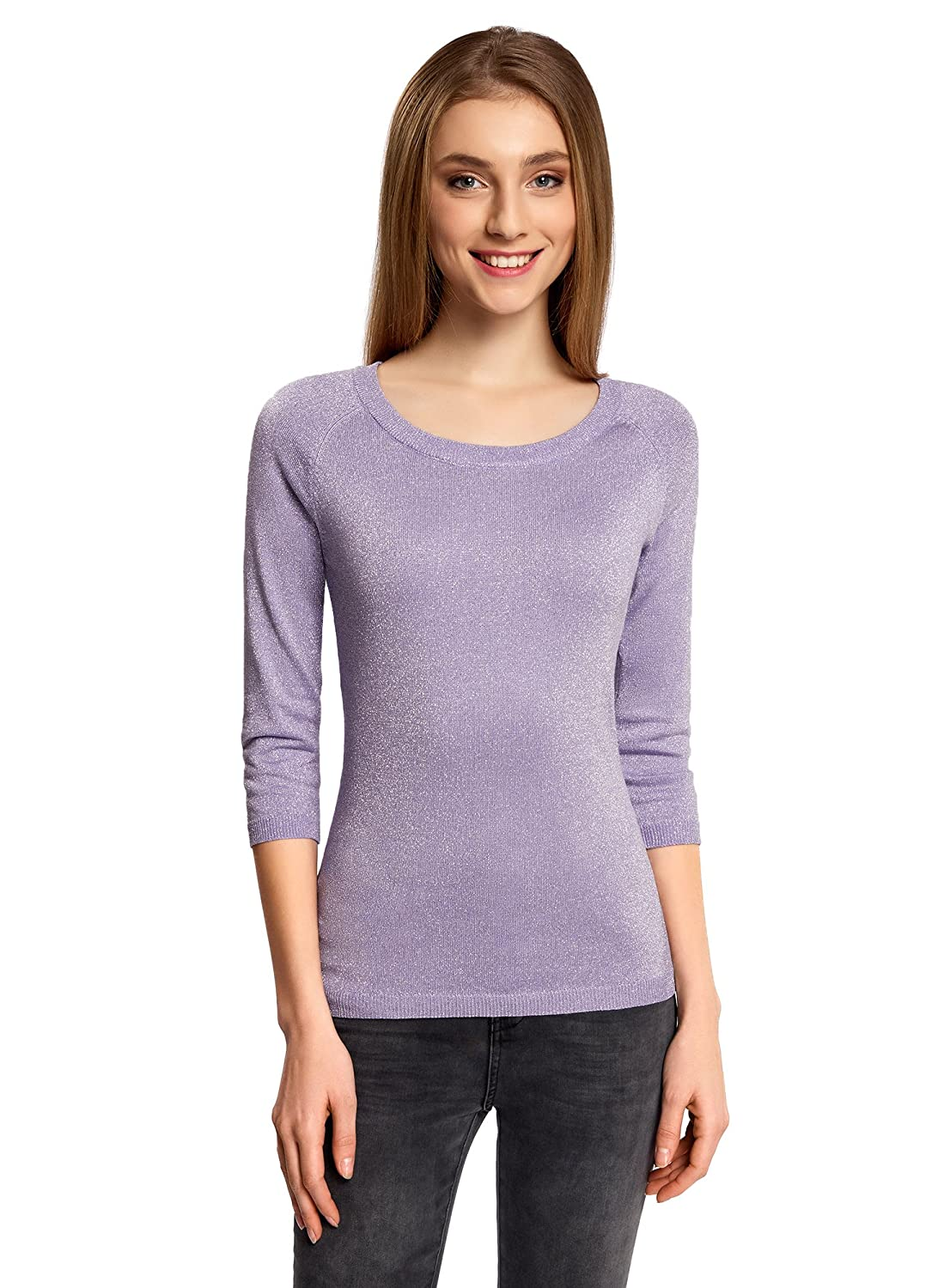 oodji Collection Women's 3/4 Sleeve Sparkling Pullover RIFICZECH s.r.o. 73812654