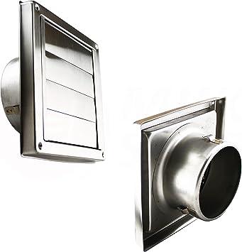 Acero inoxidable Aire Campana rejilla de protección contra la intemperie rejilla de ventilación Extractor: Amazon.es: Bricolaje y herramientas