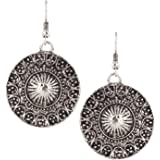 Castle Street Contemporary Oxidised Silver Alloy Dangle Earring for Women