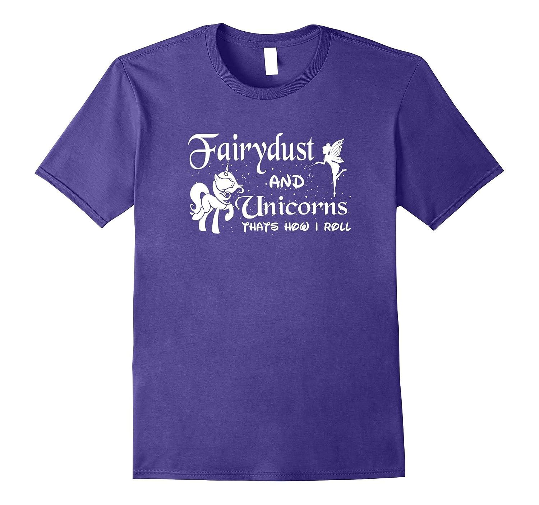 Cute Pink Fairydust and Unicorns T-Shirt Funny Gift Shirt