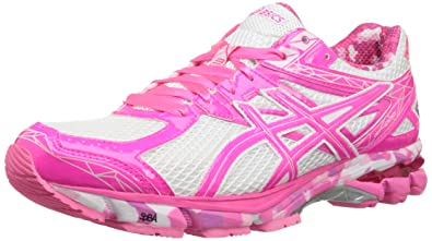 ASICS Women's GT-1000 3 PR Running Shoe,White/Hot Pink/Pink