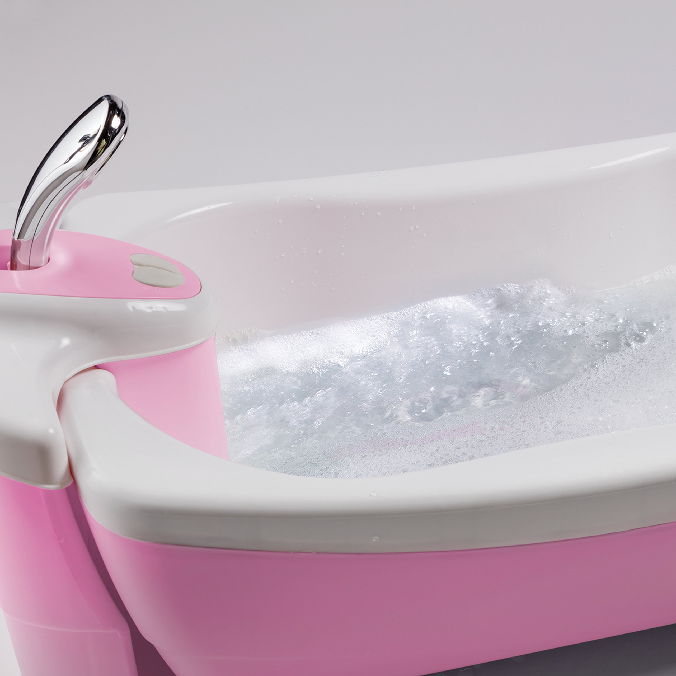 Summer Infant Lil Luxuries Whirlpool Bubbling Spa & Shower Bath Tub, Pink by Summer Infant (Image #3)
