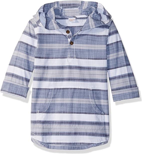 Gymboree Boys Hooded Woven Shirt Button