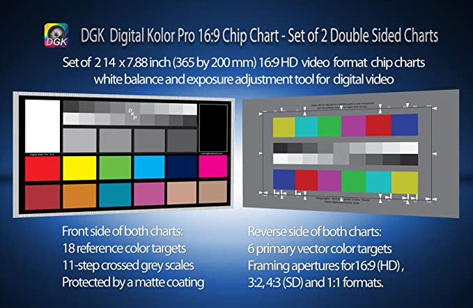 Dgk Digital Kolor Pro 169 Chart Set Of 2 Large Color Amazon