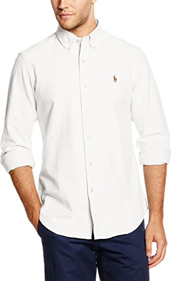 Polo Ralph Lauren Core FIT BD PPC, Camisa para Hombre, Weiß (White ...
