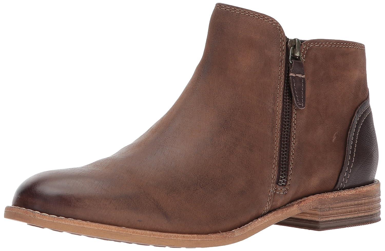 CLARKS Women's Maypearl Juno Ankle Bootie B01NCOG2HR 8.5 B(M) US|Brown Leather